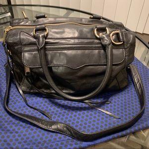 Rebecca Minkoff Black Leather Satchel Handbag